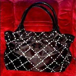 Kate Spade NY Canvas/Patent Leather Shoulder Bag
